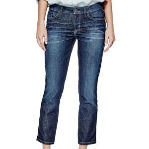 EUC GUESS Mid-Rise Crop Jeans in Bookcase Wash 27
